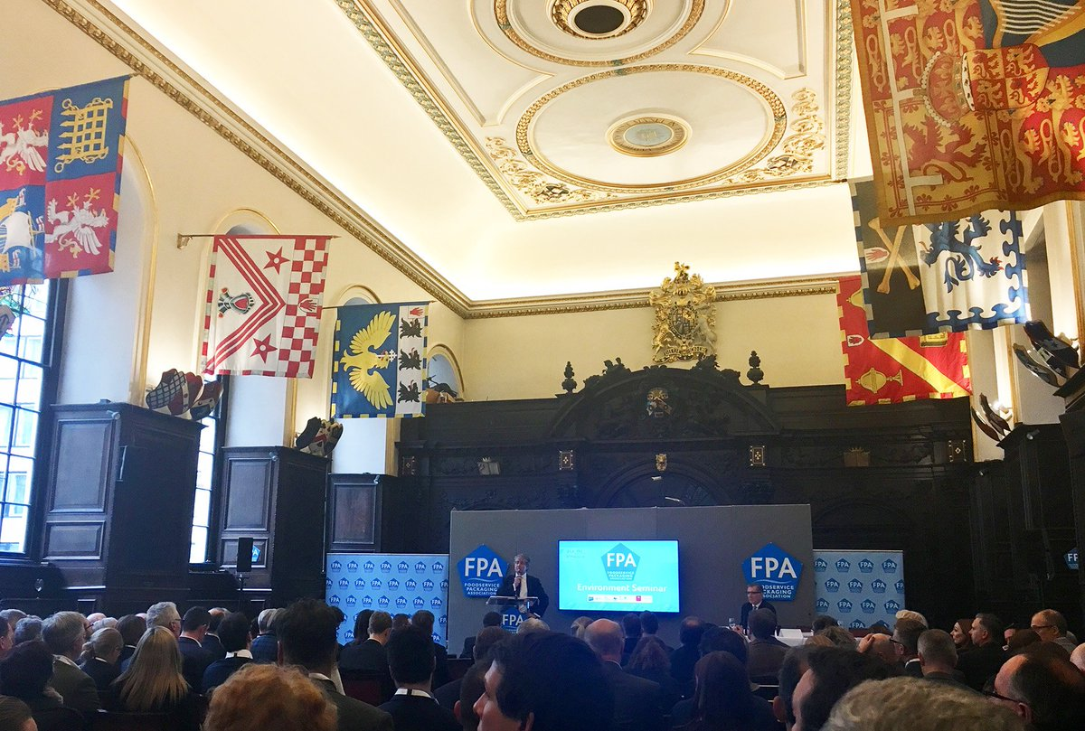 We attended the FPA Environment Seminar last week at Stationers Hall, a very interesting & thought provoking debate with Lord Deben, Dr Thérèse Coffey MP, Prof. Richard Thompson, Prof. David Bucknall, Mark Pawsey MP, WWF, Welsh Government & the FDF #packaging #fpa #plasticsdebate https://t.co/OnSzJFB1CY