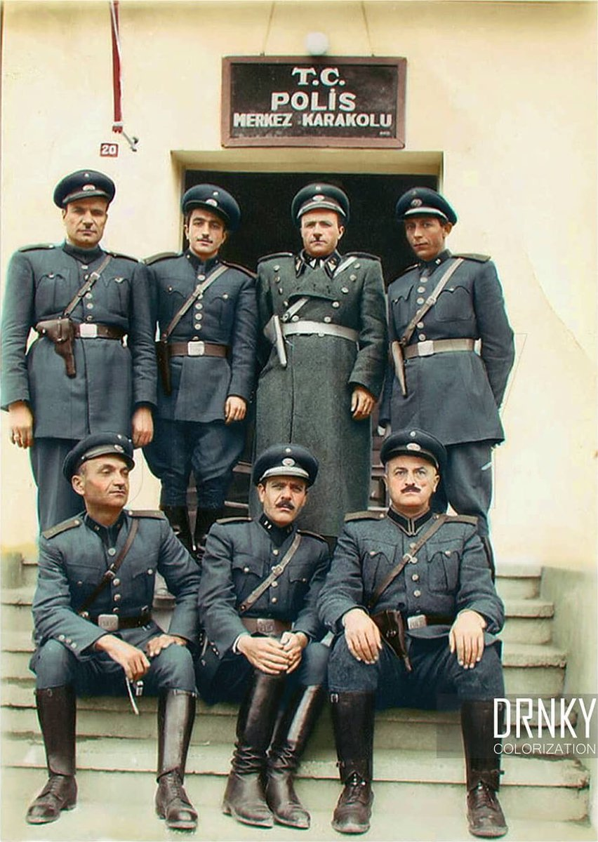 Turkish police officers in Nigde Police Station, 1945 : Turkey