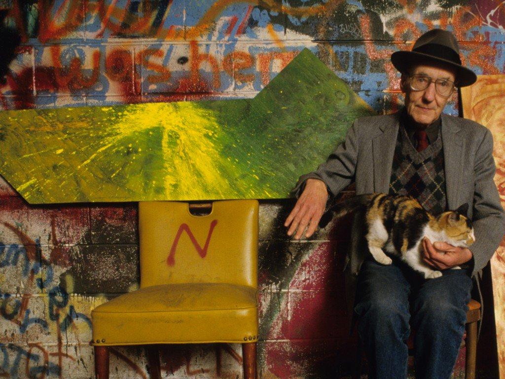William Burroughs y su gato