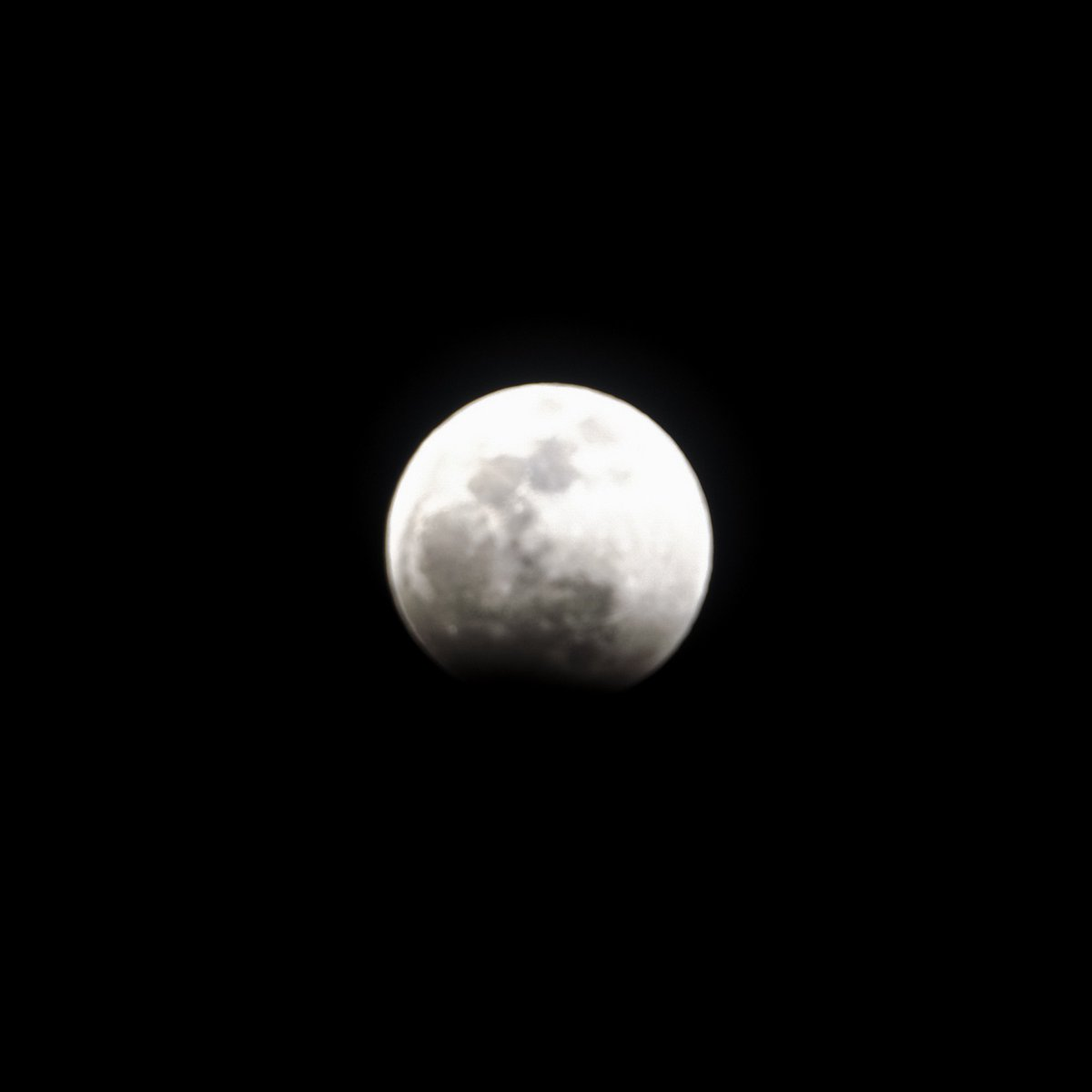 Part of the Moon is missing so get outside if the weather is good and enjoy it #LunarEclipse