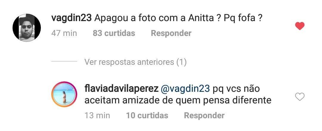 Amiga de Anitta explica motivo de ter apagado foto ao lado dela e Jojo Todynho e coloca Instagram no privado