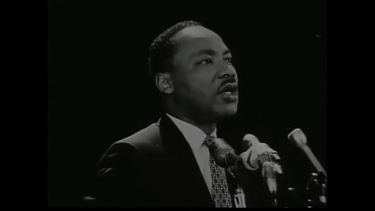 """It may well be that we will have to repent ... not merely for the vitriolic words of the bad people and the violent actions of the bad people, but for the appalling silence and indifference of the good people, who sit around and say, 'Wait on time.'"" - #MLK at Stanford, 1967"