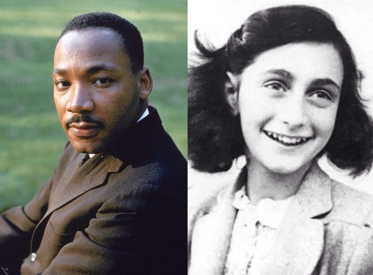 Did you know Martin Luther King, Jr. and Anne Frank were born in the same year in 1929? If they were still alive, they would both be turning 90 this year. The Civil Rights Movement and Holocaust were not that long ago.