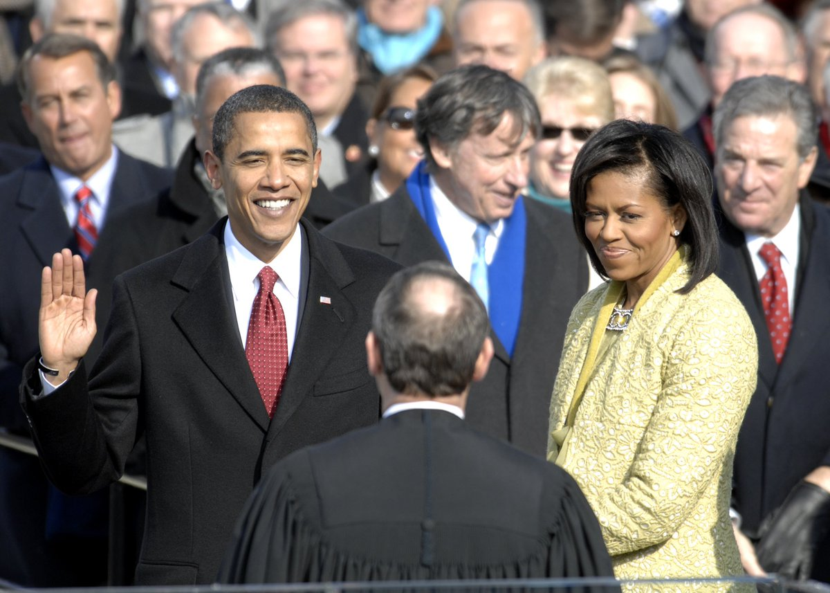 10 years ago today, a member of the Congressional Black Caucus was sworn in as President of the United States for the first time in U.S. history.