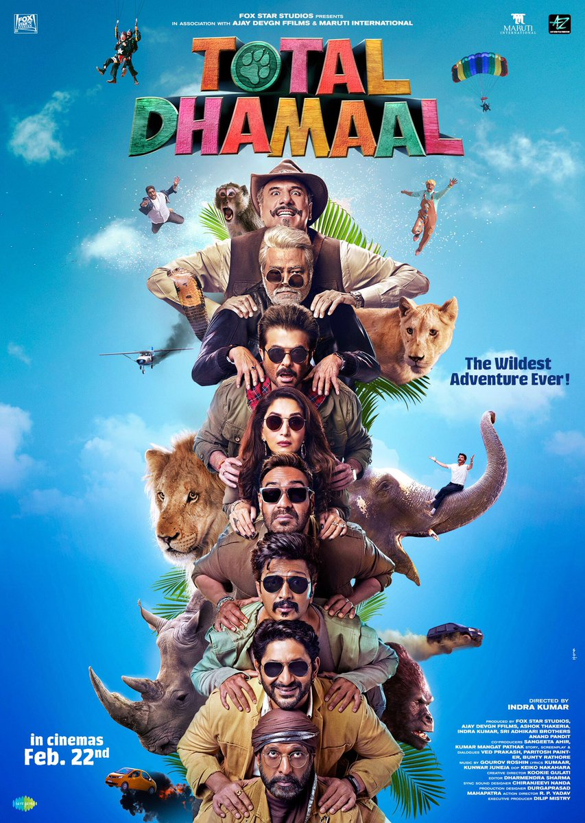 Ab kuch hoga toh sirf Total Dhamaal hoga! Watch the #TotalDhamaalTrailer, in a few hours from now. @ADFFilms @foxstarhindi @saregamaglobal