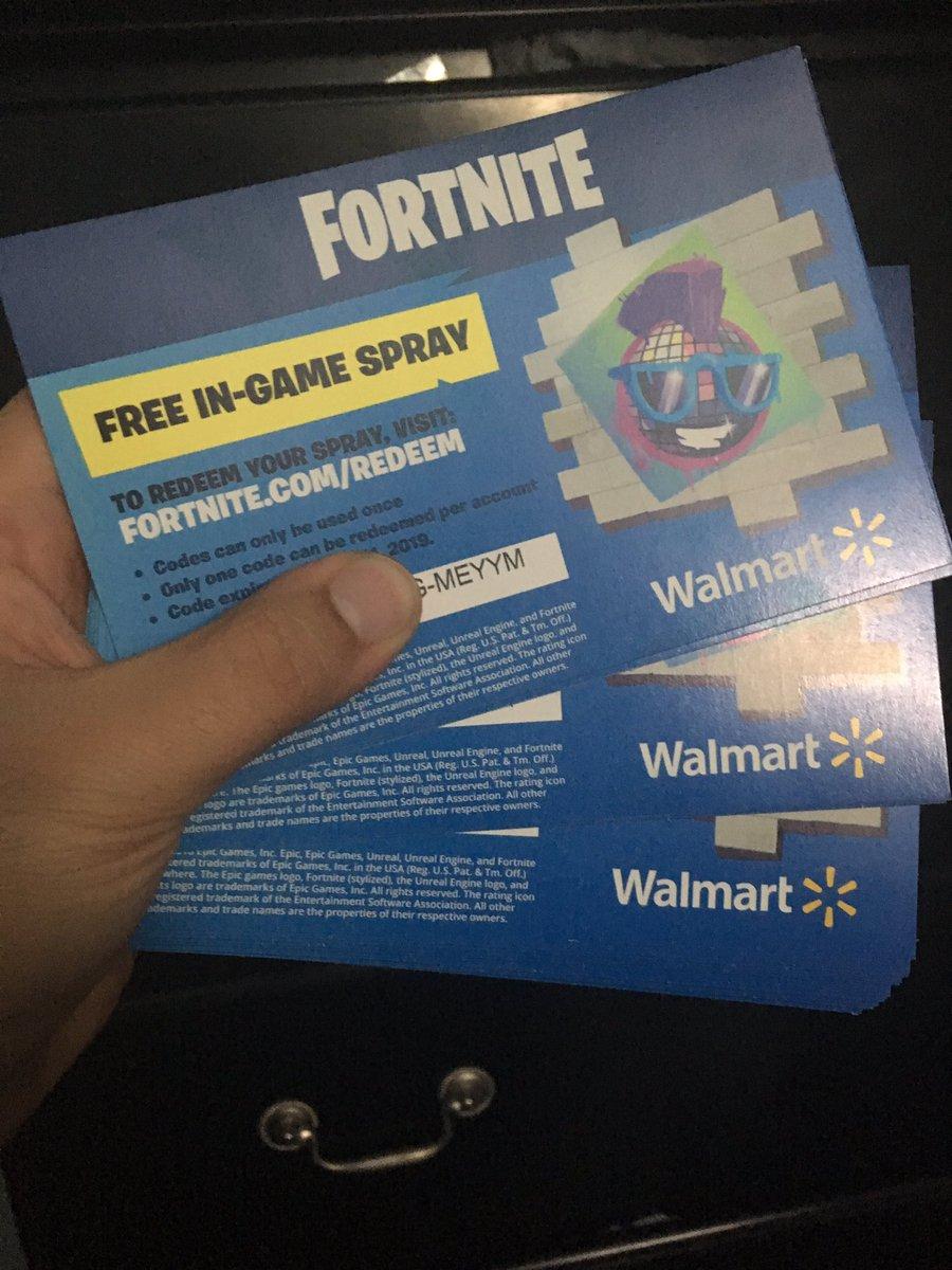 Fortnite Epic Walmart In Game Spray Code Spray Code Sent By