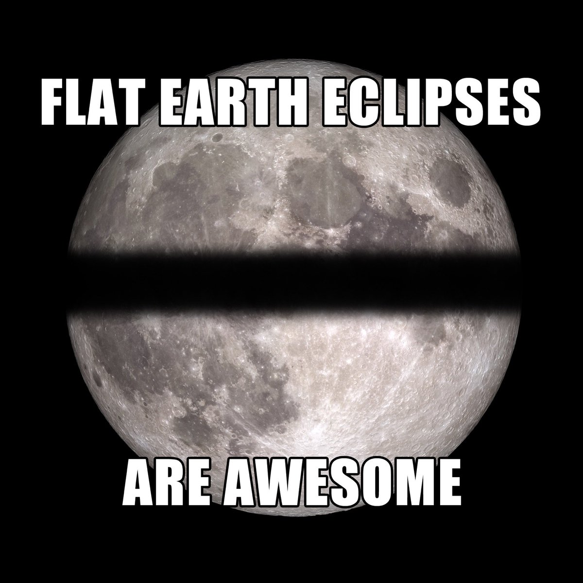 I can't leave Twitter tonight without reposting this. Credit: me.  #flatearth