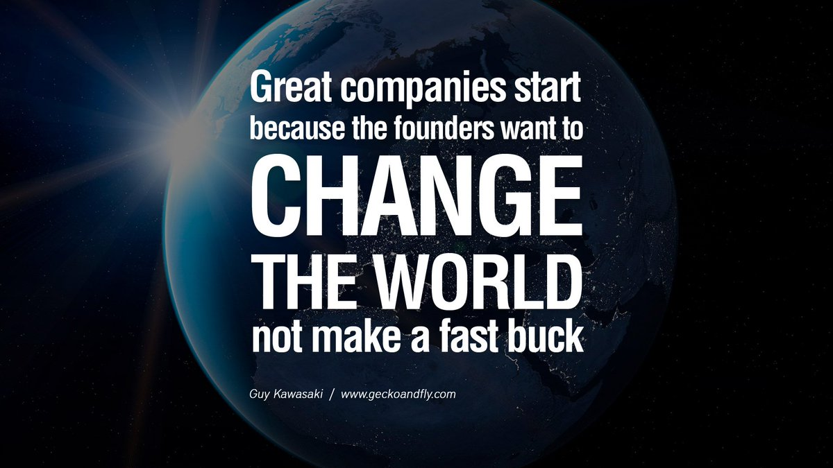 All those #startups that made it big were driven to make a difference! https://t.co/F4cnkYuX8i