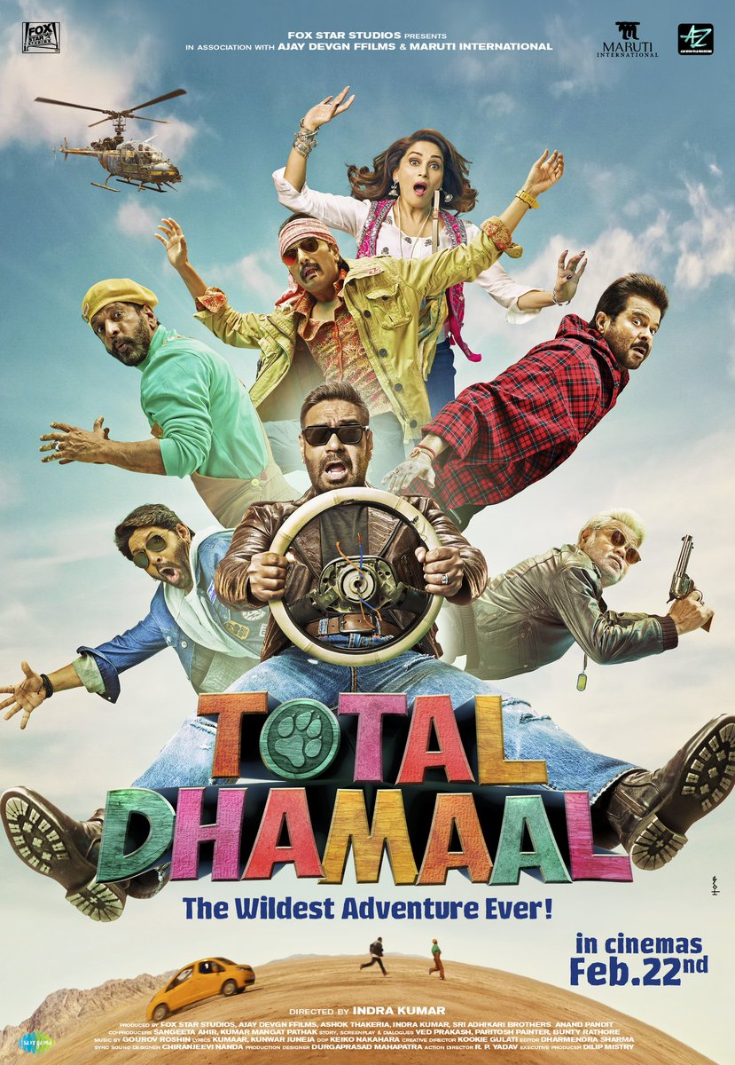 Aaj hoga sirf Total Dhamaal. Trailer out at 2 PM.