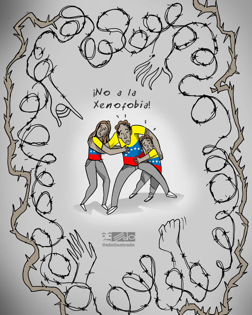 #NoALaXenofobia / La mayoría de los venezolanos que emigran son gente de bien. Solidario con todos los que están echándole un camión y son víctimas de la intolerancia. Una minoría desadaptada no puede manchar nuestro gentilicio