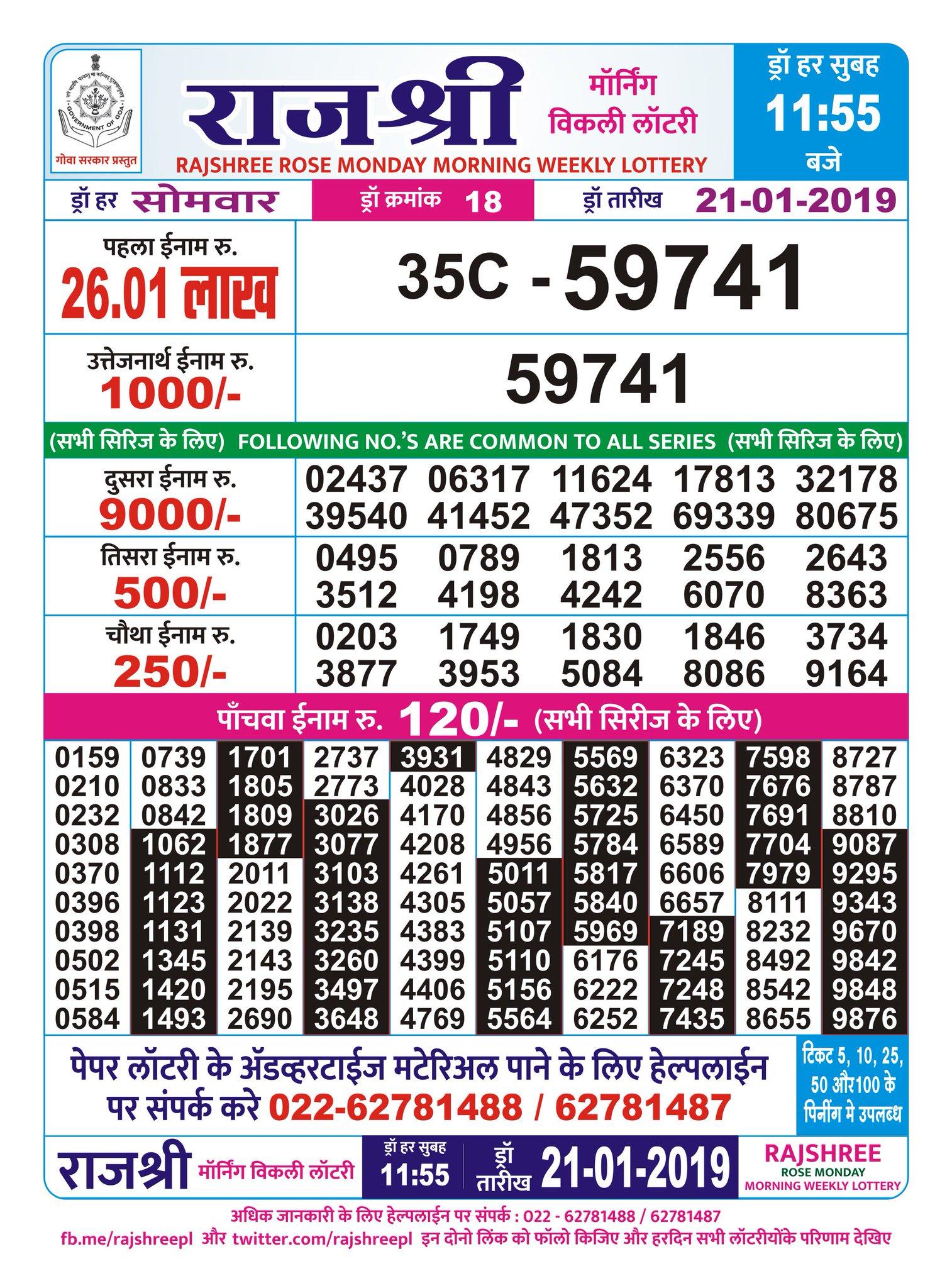 By Photo Congress    Goa State Lottery Rajshree Rose