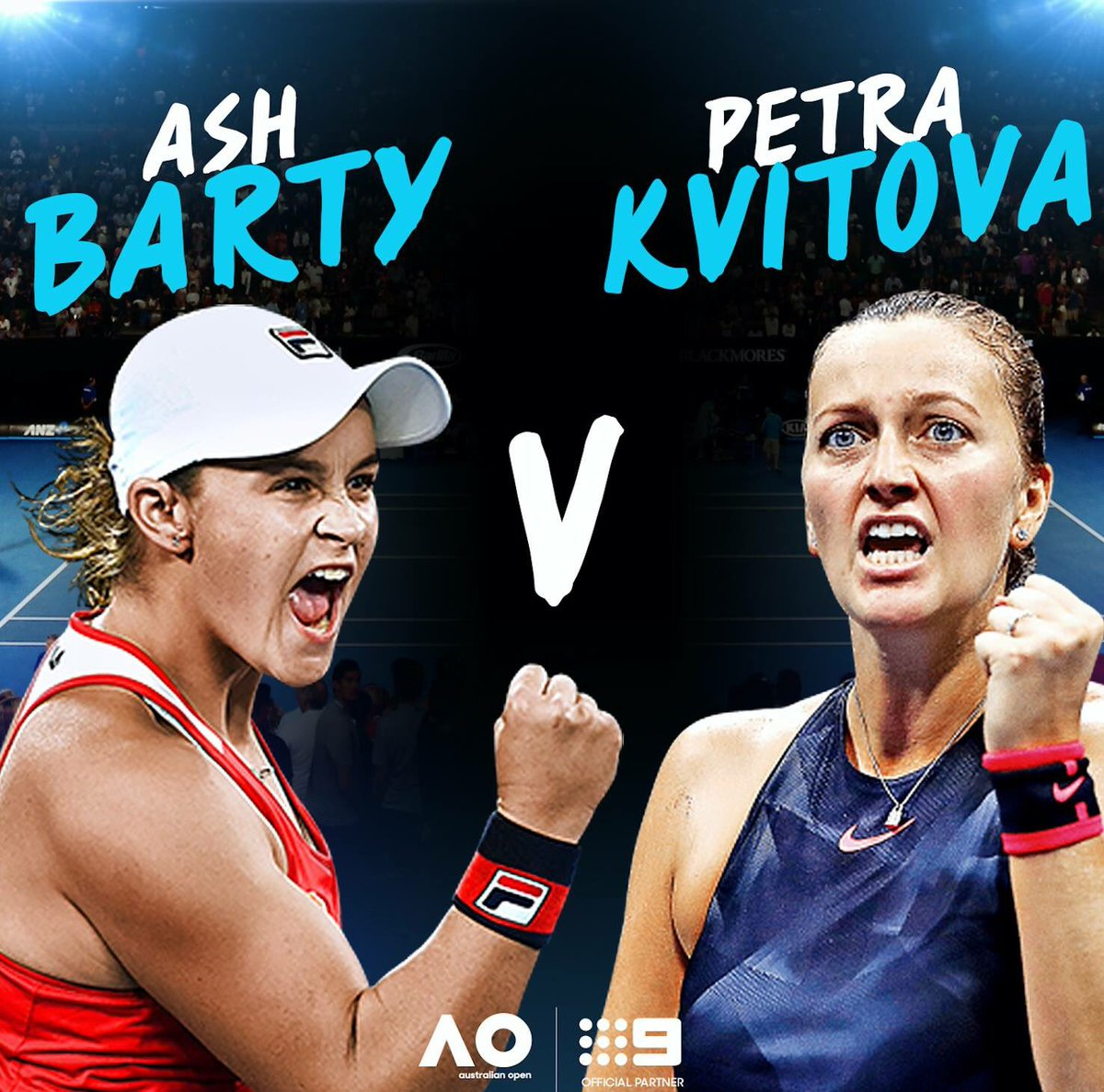 TOMORROW 7.00pm: Invite your mates, the #BartyParty is set to be MASSIVE! 🎉 #AusOpen #9WWOS
