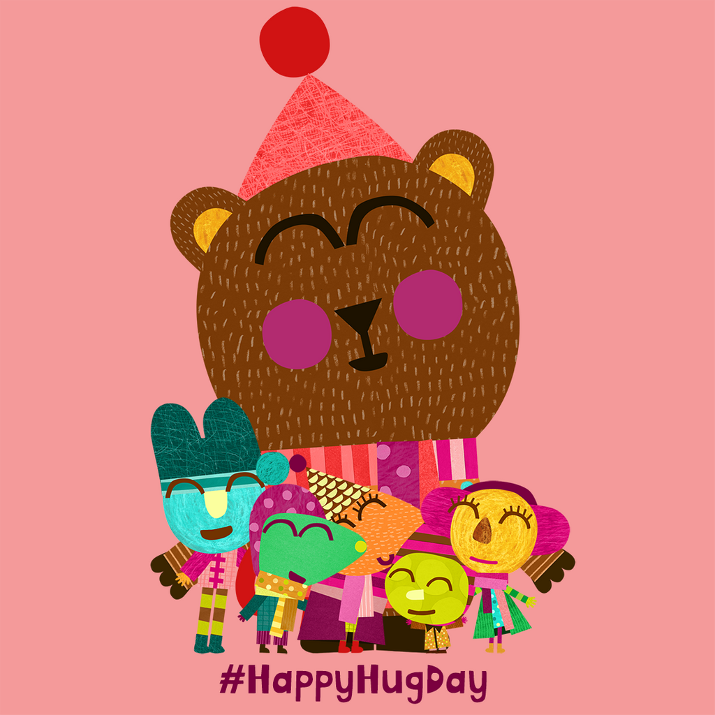 HEY! It's #HappyHugDay!  Time to scoop up those little ones in your life and let them know you love them   Team Olobob x  #preschool #friendship #love #hugs #hugging #showthemyoucare #warmfeeling @CBeebiesHQ<br>http://pic.twitter.com/wP6e5YF9I1