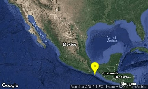 test Twitter Media - SISMO Magnitud 5.8 Loc  88 km al SURESTE de SALINA CRUZ, OAX 21/01/19 05:57:19 Lat 15.42 Lon -94.94 Pf 35 km https://t.co/mmGVGl3Pey