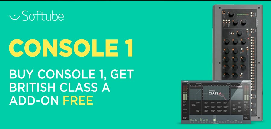 Add @SoftubeStudios Console 1 to your collection and get British Class A Channel Strip for Console 1 for FREE!  Bought Console already? This promo also includes any customers who purchased Console 1 after 1st January 2019! Click here to find out more: http://bit.ly/2U9yFMt
