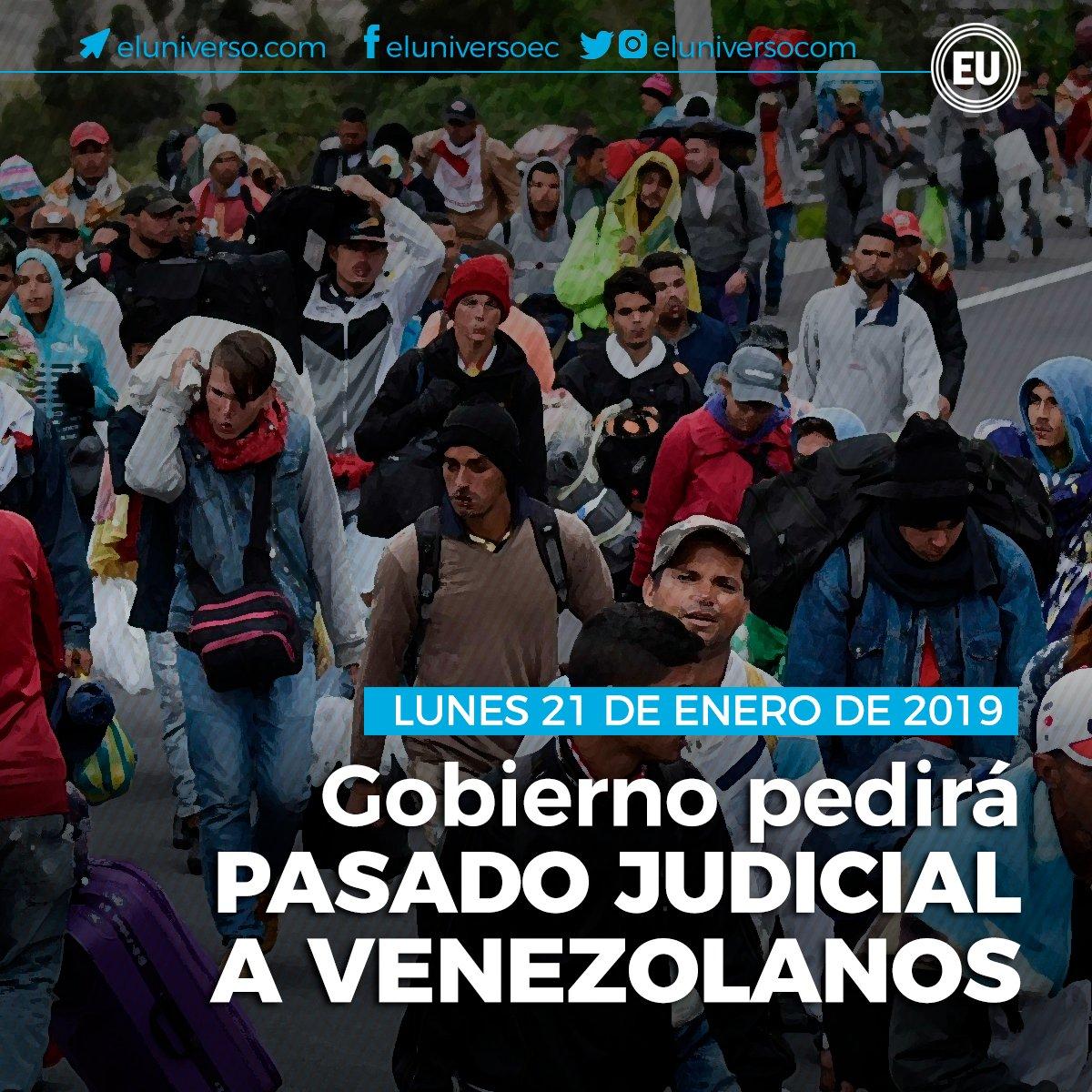 (Actualización) Vicepresidente Sonnenholzner anuncia que desde hoy se pedirá pasado judicial apostillado a ciudadanos venezolanos que ingresen al Ecuador.  ► https://t.co/a6sUmMjQtj
