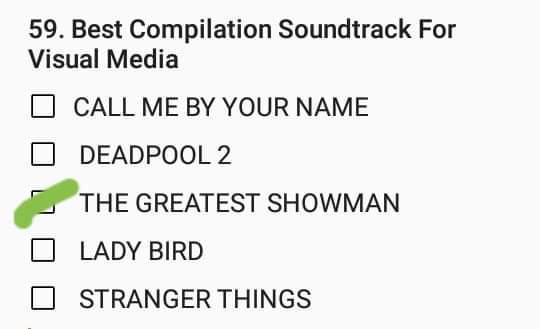 #GrammysPredictions   #BestCompilationSoundtrackForVisualMedia   #Grammys