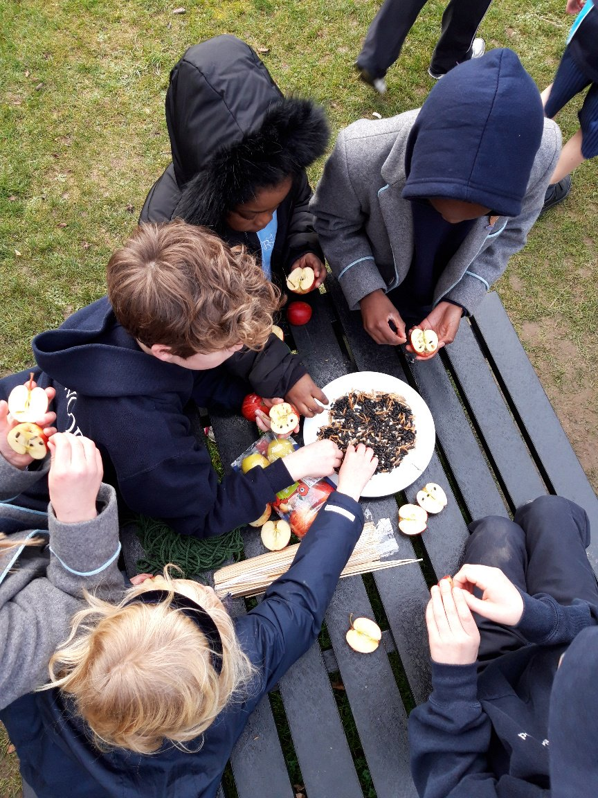 Last week our pupils made bird feeders during their Prince William Awards session, testing their sharing, resilience and cooperation skills. The feeders were hung on trees around the grounds and are being feasted on by the local birdlife! @ThePWAward