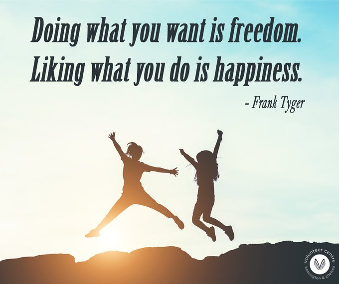 Give yourself the opportunity to love what you do. #volunteer and find your happy! #mondaymood Photo