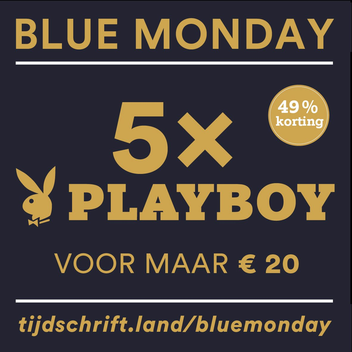 #bluemonday #korting #playboy https://t.co/h9202vOoHy