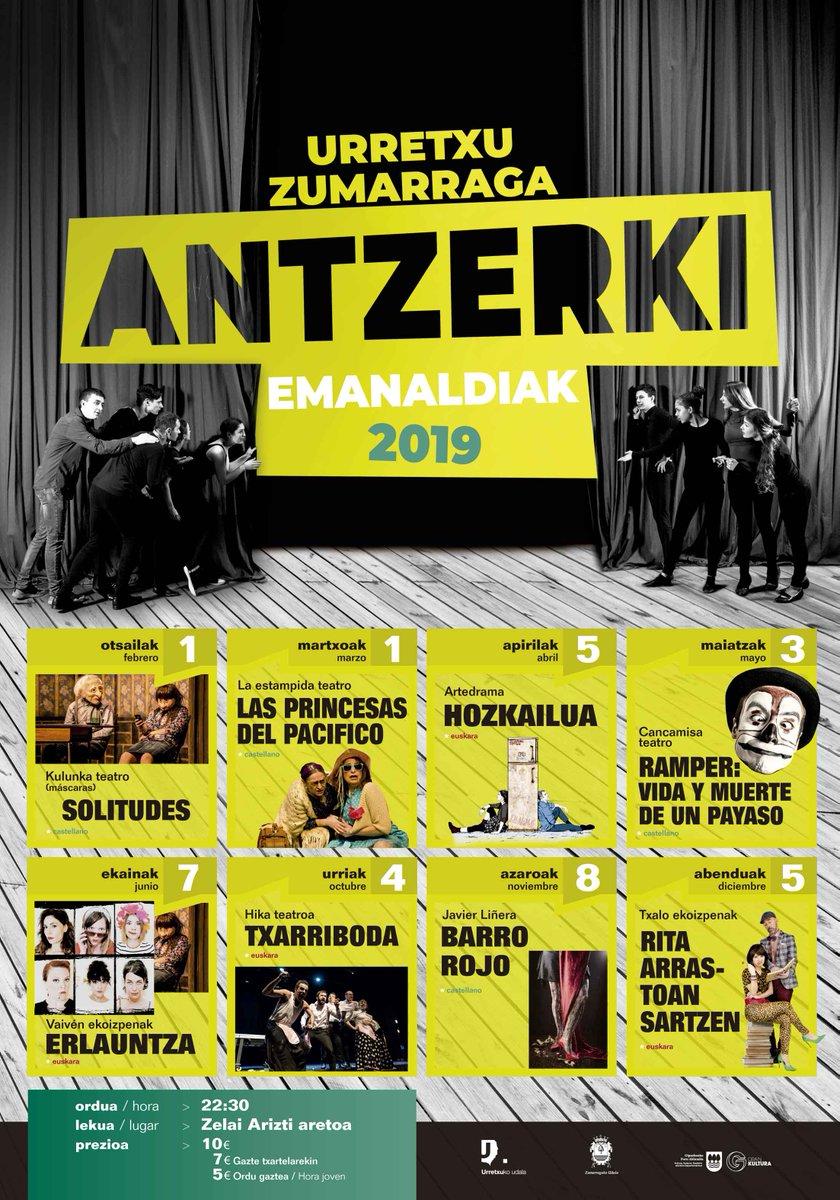 Helduentzako antzerki bonoen salmenta / venta de bonos  -22, martes: 10:00-13:30 /17:00-20:00: Para los que quieren mantener el bono -24, jueves: 10:00-13:30 / 17:00-20:00: Para prefieren cambiarlo -26, sábado: 10:00-13:30: Bono nuevo y bono euskara @Urretxuudala #teatro
