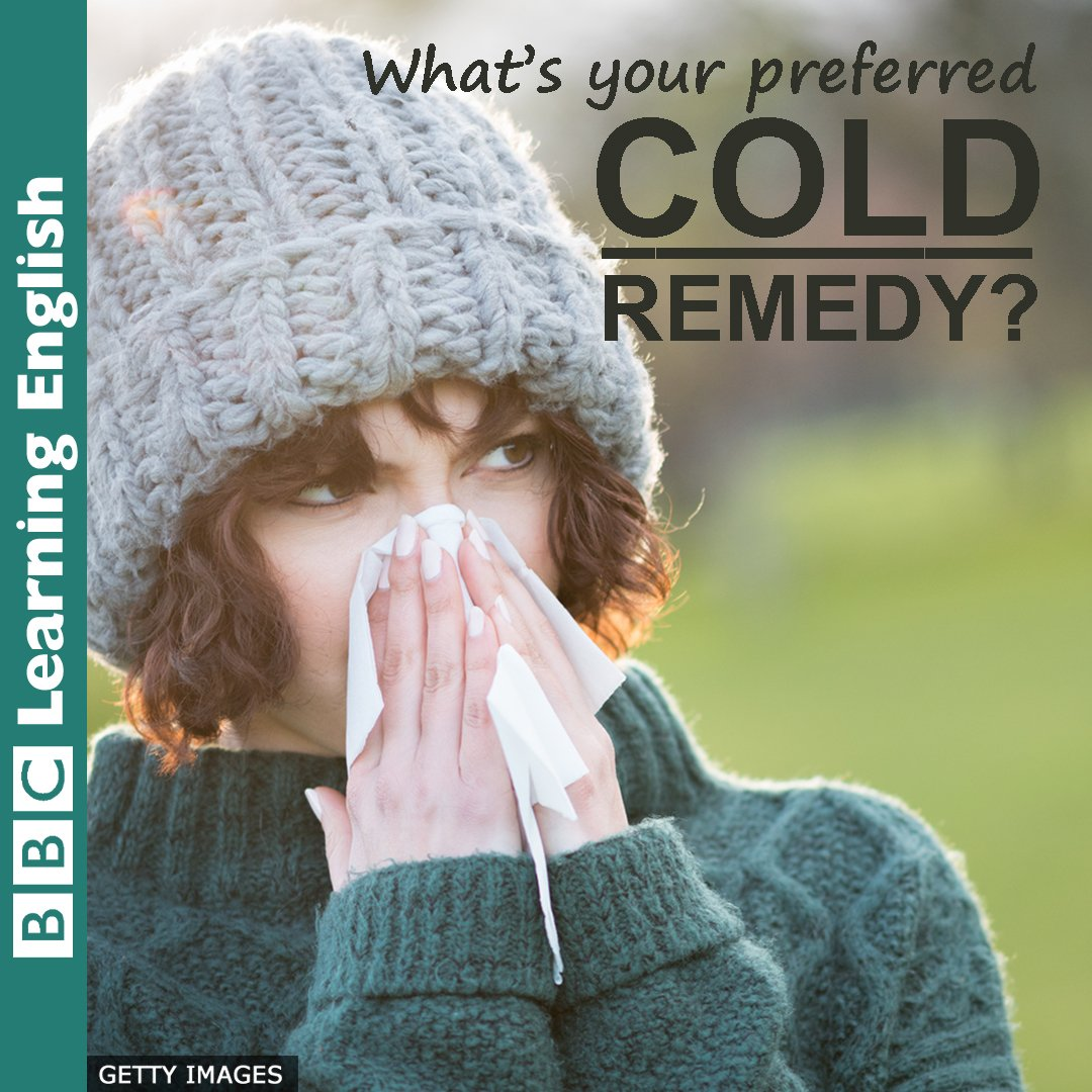 🥶Have you got a case of 'the sniffles'? 😷That's what we often call 'a cold'.  🤧It's that time of year in the UK! What's your favourite remedy for the common cold?  #bbclearningenglish #learnenglish #englishonline #sniffles