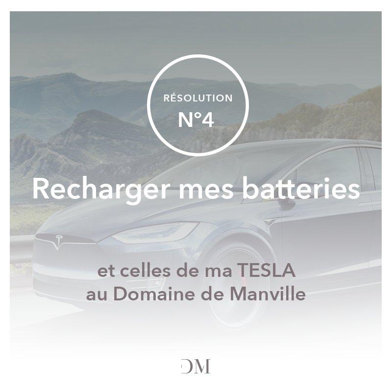 """RÉSOLUTION MANVILLE n°4 : """"Recharger mes batteries et celles de ma TESLA au Domaine de Manville"""" #resolution #2019 #provence #Tesla"""