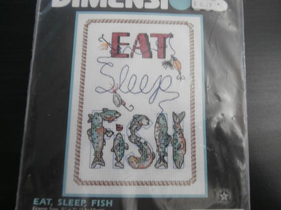 7e8bf3ea Handmade, Unframed, Eat, Sleep, Fish, Cross Stitch- Fathers Day Gift, Gift  For Dads, Fishing Gifts, Fishing Decor, Fishing Birthday #etsyseller  #crossstitch ...