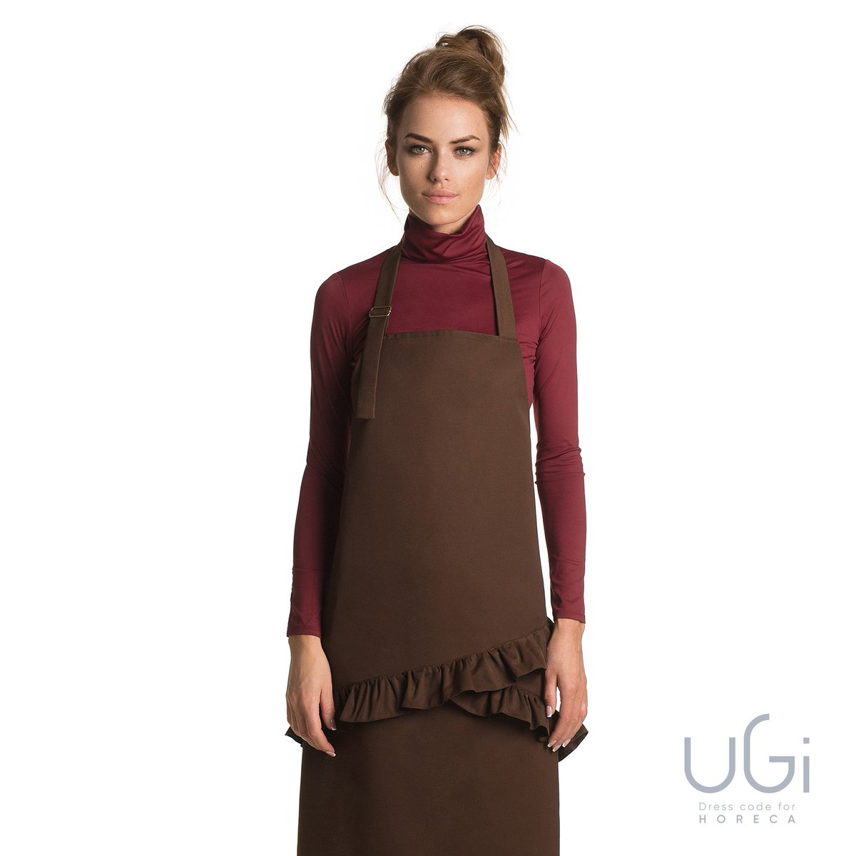 Ugi Code On Twitter Chocolate Mood Dressed Up In Brown Lily Apron From New Premium Collection For Horeca Chocolate Brownapron Catering Hospitality Uniform Workwear Chefwear Waiter Apron Aprons Elegantaprons Classicapron Apron