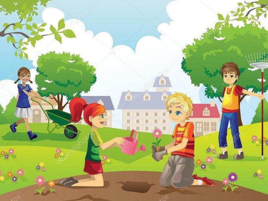 Картинки субботник в детском саду, открытки как