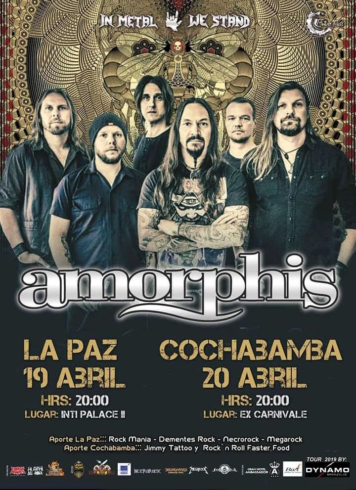 🇧🇴 Two shows coming up in Bolivia! See the ticket info on the poster🤘#amorphis #queenoftimetour #queenoftimetour2019 #bolivia https://t.co/NK64TbqDYd