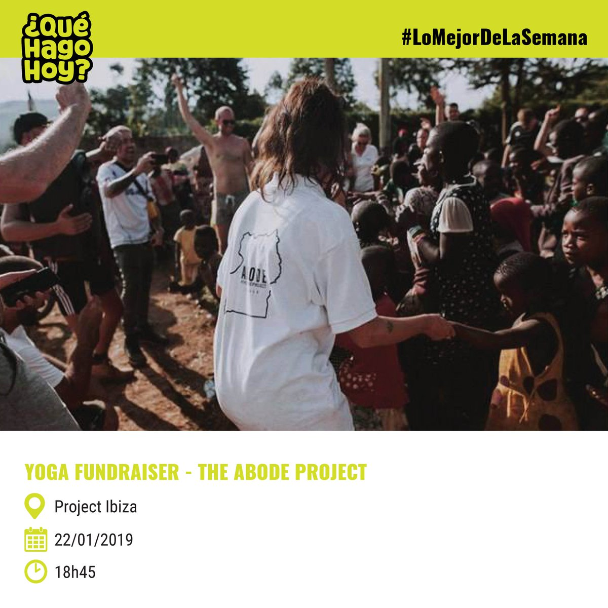 """#NoTePierdasNada ¿Qué vas a hacer mañana? @QueHagoHoyIbiza te propone visitar Project Ibiza y su evento #YogaFundraiser o asistir a la proyección de la película """"Muchos hijos, un mono y un castillo"""" en la sede de UIB. 🧐🎞️👫  #Ibiza #film #film #yogalife #fundraising"""