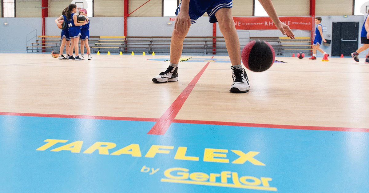 Safer, performant, shock-absorbant and easy maintenance flooring solution, discover our dedicated solution for indoor sports: our #Taraflex range! ⛹‍♂