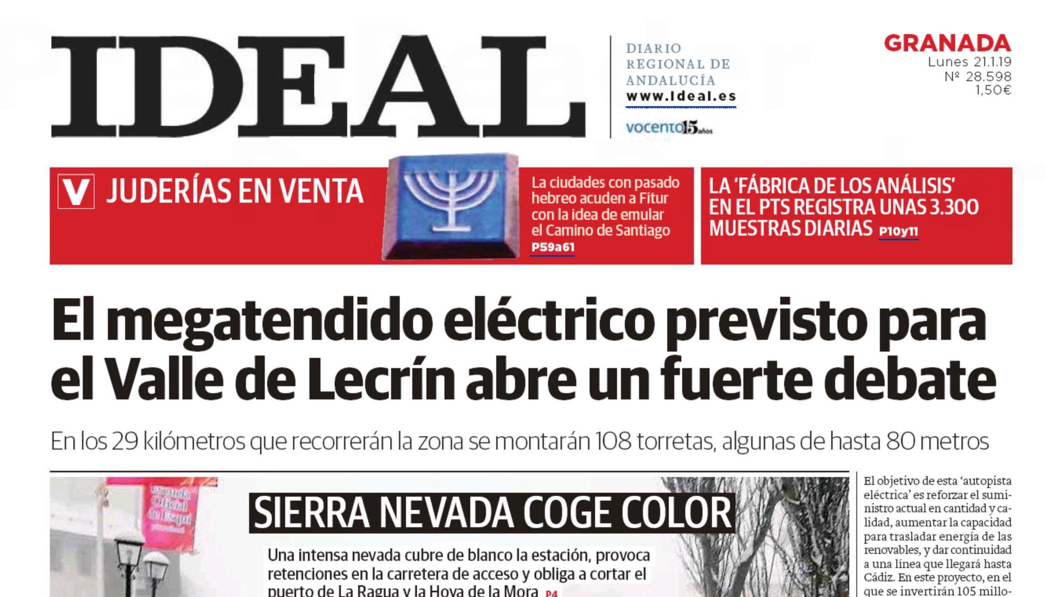 """Foto Di Un Camino Acceso di no a las torres on twitter: """"el titular de ideal hoy"""