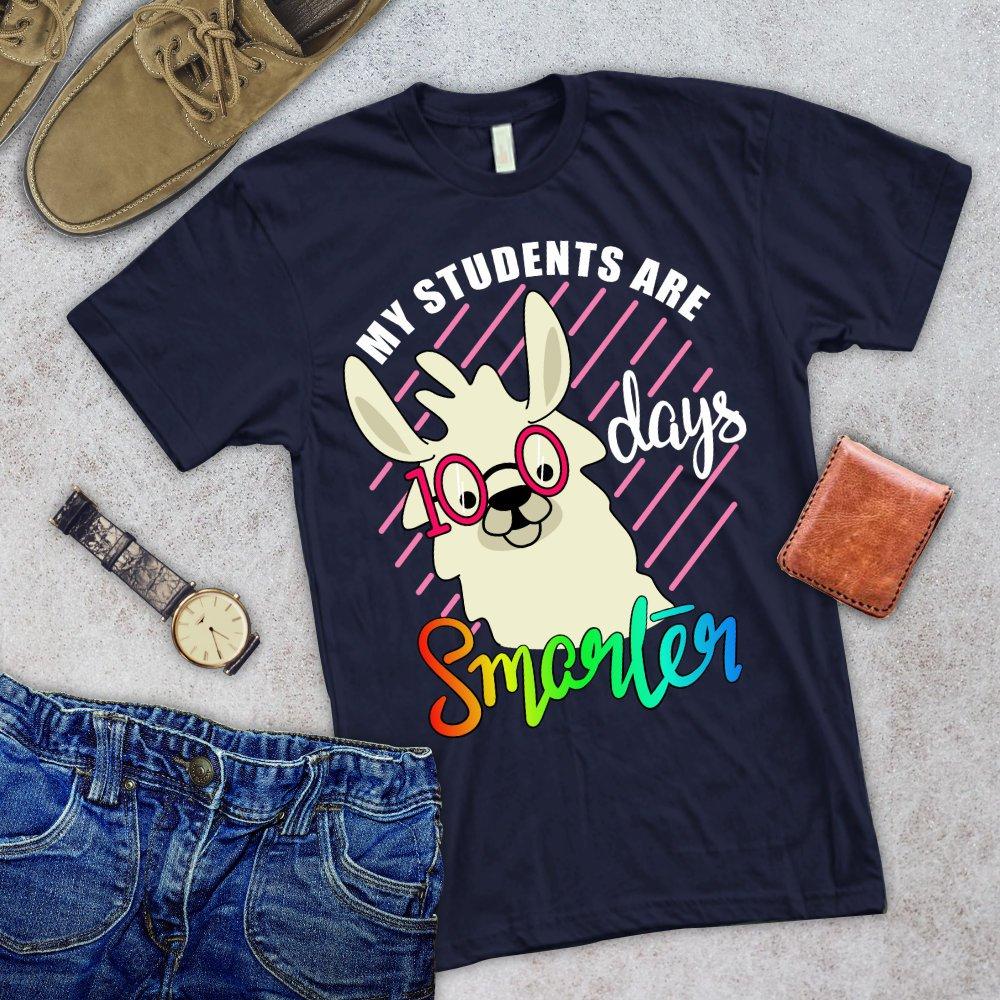 5eb4eec2f My Students are 100 Days smarter/ 100 Days Of School Shirt/ No Prob Llama