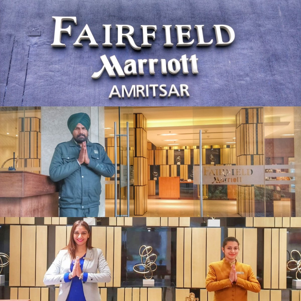 The Amritsar journey has begun. There's a feeling of warmth nd hospitality when you are greeted with a big smile. Much to explore nd experience. Watch this space to know more. @fairfieldamr @nomllers  #BeautyOfSimplicity #FairfieldByMarriott #holidayiq #holidayiqcommunity https://t.co/nQZEv47lxH