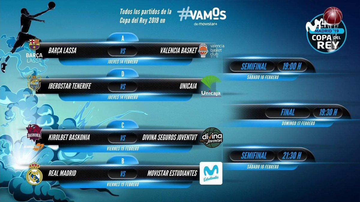 Resultados del sorteo de la Copa de la ACB.