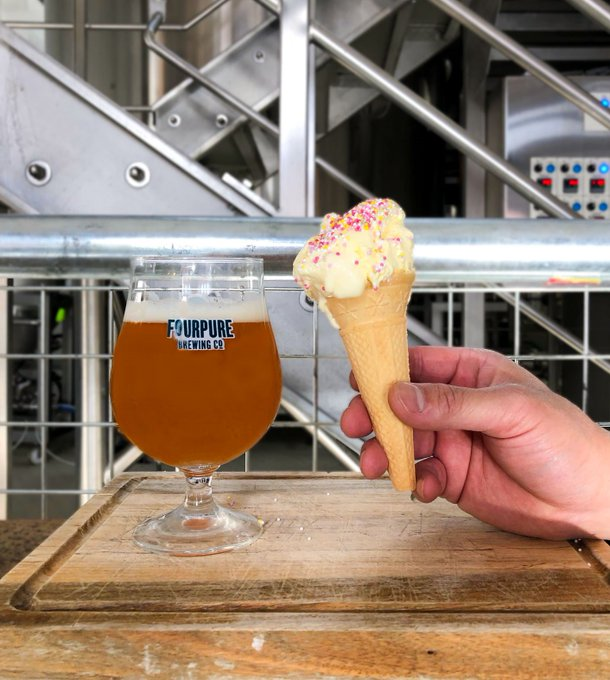 Image for New Beer Alert!   Introducing our brand new #vegan friendly Vanilla Ice Cream IPA, Parlour.  Get down to @fourpuretaproom on Friday for our Parlour launch. Tickets are free and you get a free 2/3 pint of Parlour on arrival!  Tickets here: https://t.co/baz