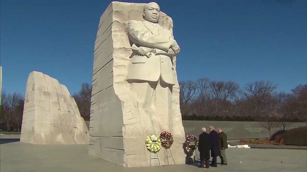 President Trump, Vice President Pence visit MLK Memorial https://t.co/56IvHx6z8x