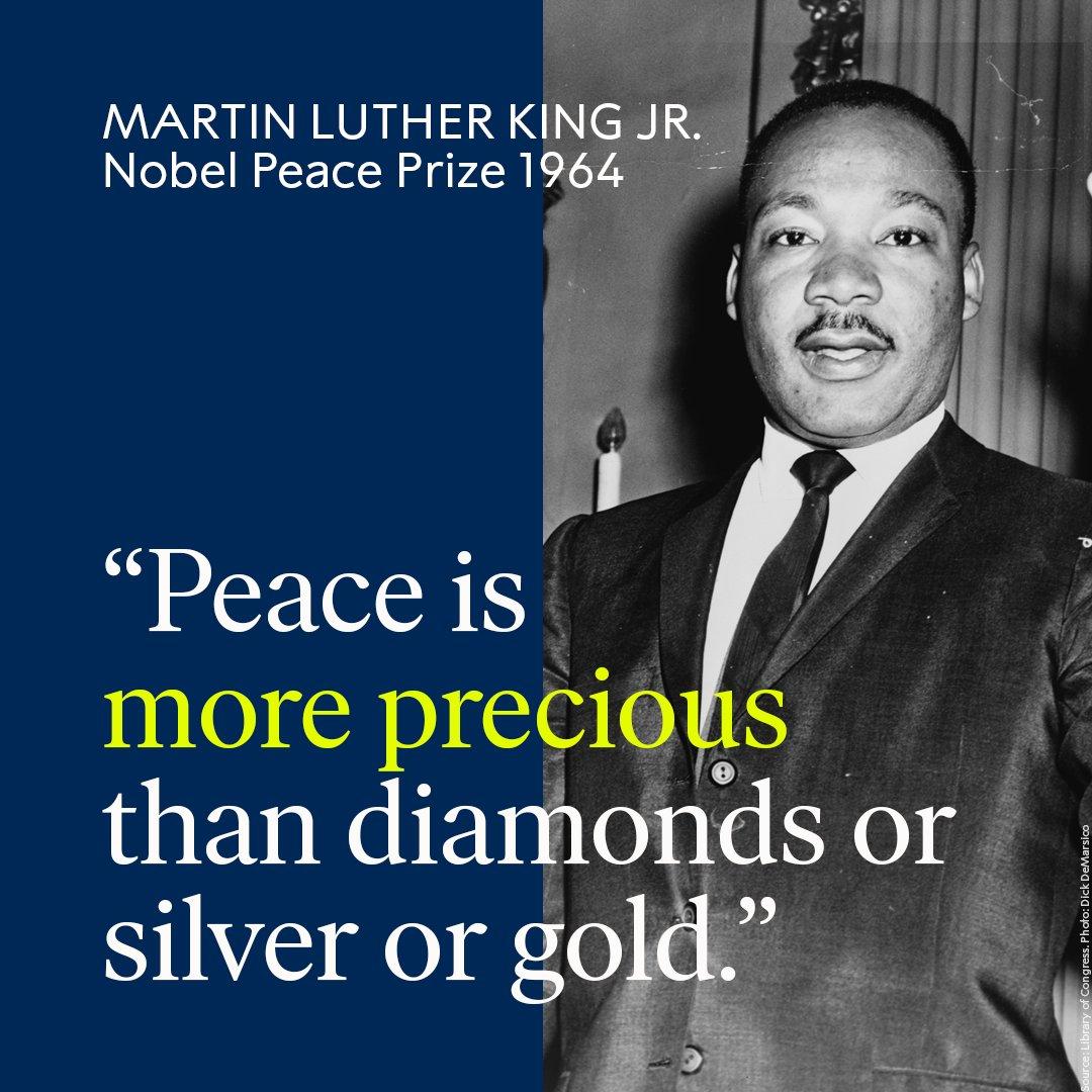 Inspiration from a remarkable Nobel Laureate: Martin Luther King Jr. #MLKDay #MartinLutherKing #NobelPrize