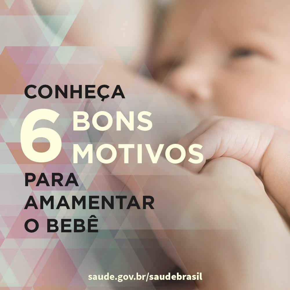 Os benefícios à saúde da criança e da mãe são os melhores motivos para amamentar. Além disso, o vínculo afetivo que se cria no ato da amamentação acompanha mãe e filho para o resto da vida  Confira: https://t.co/kKzebzNhnw