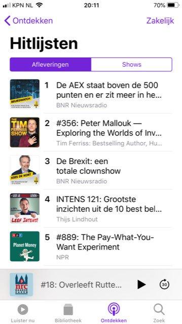 test Twitter Media - Bam! Daar staat die @RobJansenBeurs met zijn @BNR Beurswatch gewoon dit weekend op nummer 1 in iTunes Zakelijk! En @keesdekortbnr ook nog in de Top 3. Lekker bezig. https://t.co/QDUUdZwO8d