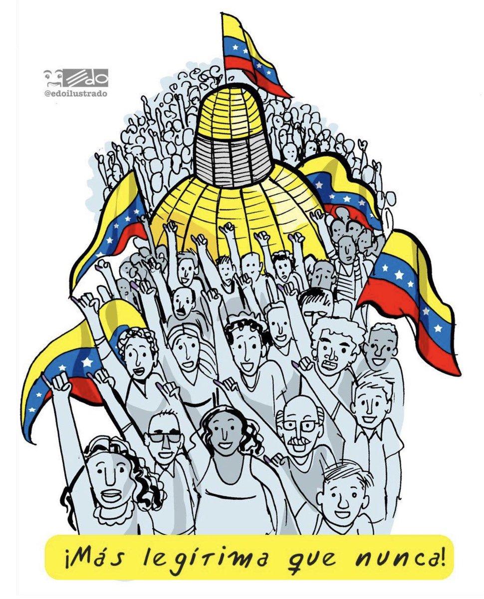 """Único poder legítimo elegido por votación popular: La Asamblea Nacional! A rodearla, defenderla, protegerla ... a una sola voz y sin duda alguna y como dice @edoilustrado """"mas legítima que nunca"""".  #Venezuela"""