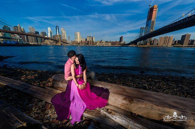 I miss Dumbo, I miss the warm weather, I miss these two love birds =) H❤️R  #pandyaphotography #shotbyabhi #indianweddingphotographer #weddingphotographer #photographer #indianwedding #southasianwedding #maharani #nikon #followme #njphotographer #picoftheday #photooftheday #…