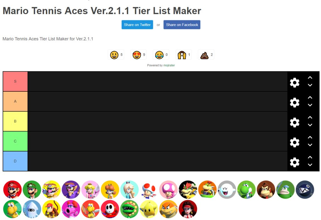 Smash tier maker ultimate