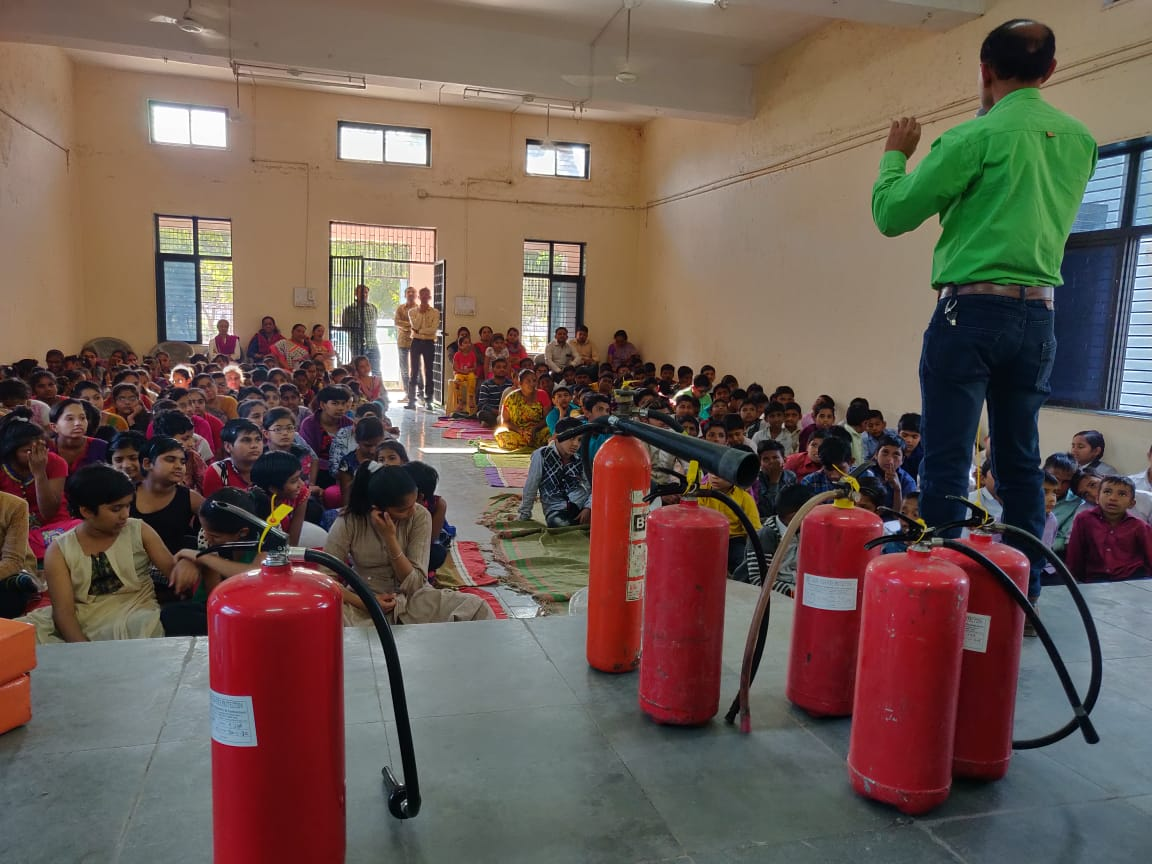 Y'day on 20th January-2019 training on the subject of #FirstAid, #FireSafety and #108 imparted at District Child Protection Unit. More than 200 students of 5 different units of #DCPU-Rajkot were benefitted by this training.