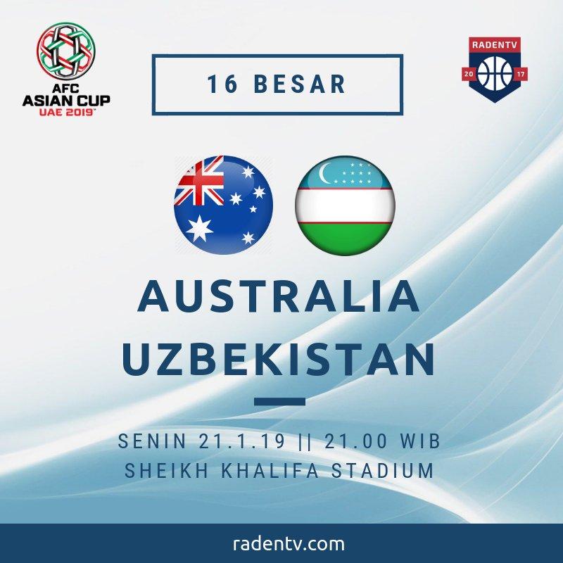 🏆 Piala Asia 2019 🆚 Australia vs Uzbekistan 📆 Senin 21.1.19 ⏲ 21.00 WIB 📱 https://bit.ly/2U6oh8d #AFCAsianCup2019