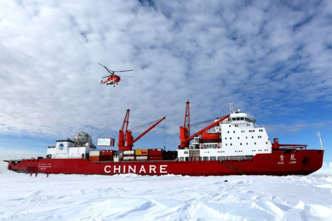 China's #Xuelong, polar #icebreaker, collided with an iceberg on its 35th Antarctic research mission due to thick fog, according to China's Ministry of Natural Resources on Monday. No staff aboard was injured and the icebreaker is now under good conditions