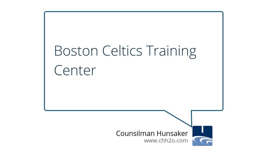 Hot off the press: Boston Celtics Training Center https://goo.gl/H7zqNT #AquaticsForLife #BostonCeltics #RedAuerbach #Hydrotherapy #CircleOfServices
