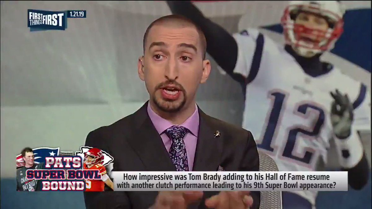 """""""The narrative surrounding Tom Brady today, not his legacy or career but his performance last night, is so dramatically different if Dee Ford lines up 6 inches back like he's supposed to."""" — @getnickwright"""